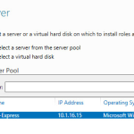 IIS 8 - Installing IIS 8 Role Select Destination Server