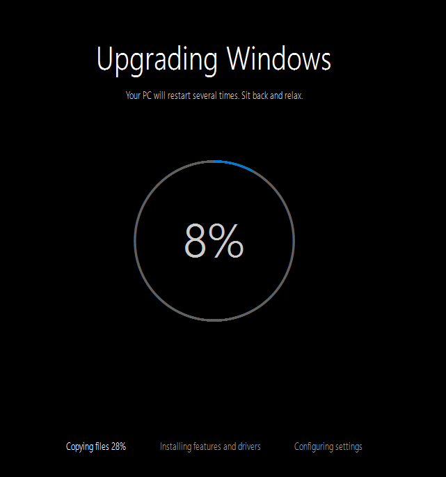 Upgrading Windows 10 Technical Preview version 10162 - Upgrading Windows